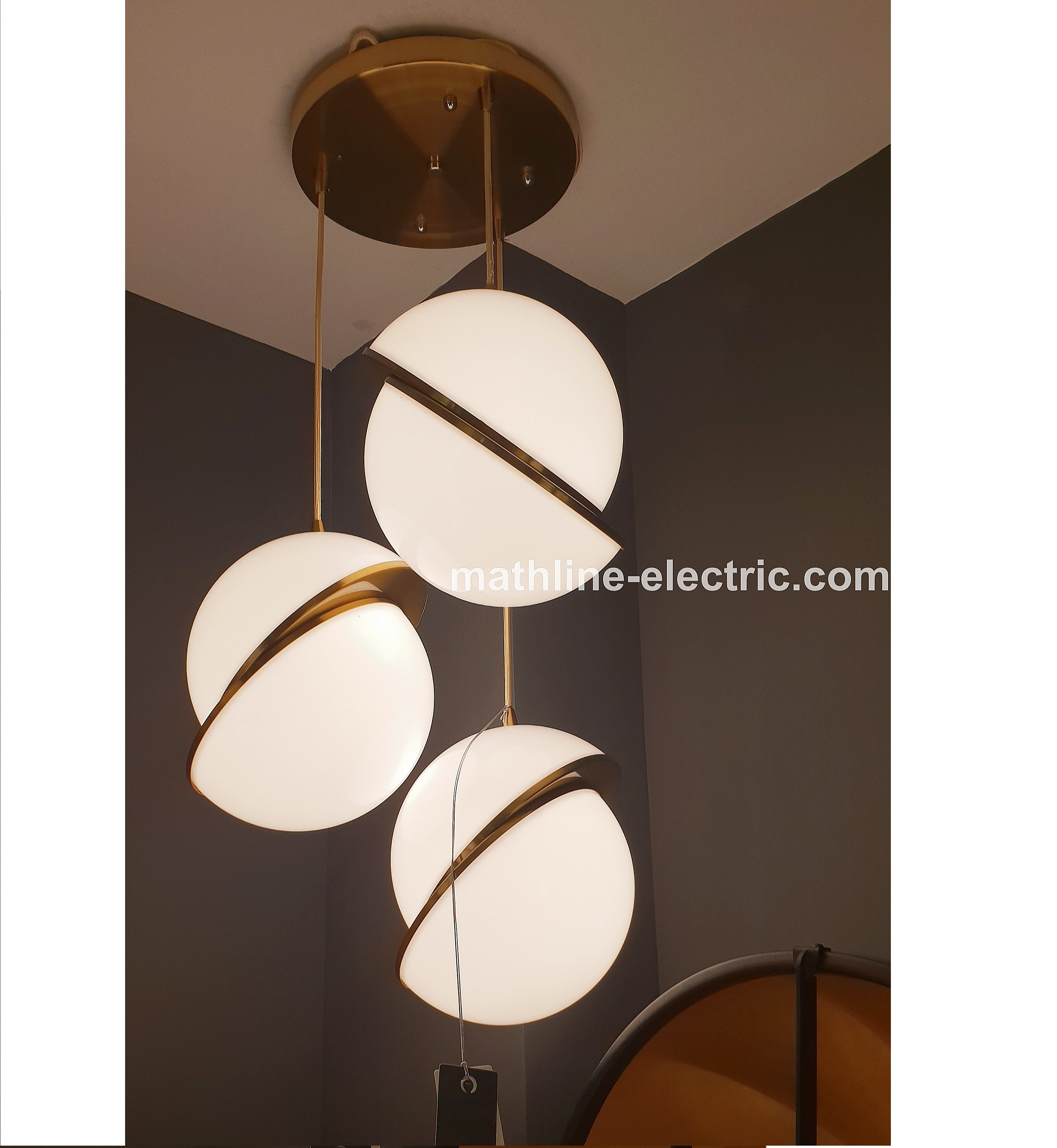 3 In 1 White Moon Pendant Lamp